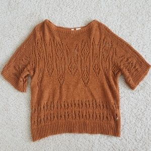 Anthro open weave sweater